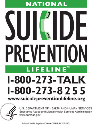 National Suicide Prevention Lifeline Magnet, SVP05-0126